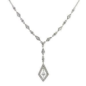 Sterling Silver Cubic Zirconia Vintage Necklace
