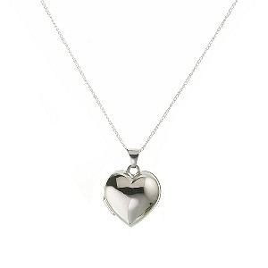 Silver Puff Heart Locket - Product number 5958733
