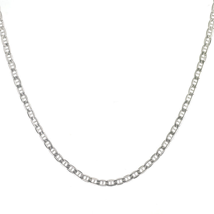 "9ct White Gold 20"" Anchor Chain - Product number 5964776"
