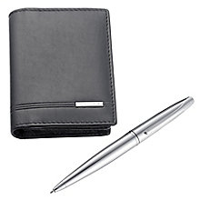 Cross ATX Chrome Pen and Leather Wallet Set - Product number 5967058