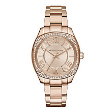 Michael Kors Rose Gold Tone Ladies' Bracelet Watch - Product number 5967074