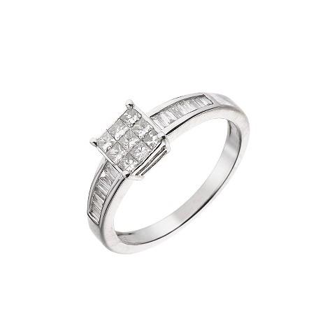 18ct white gold half carat diamond ring