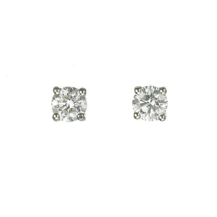 18ct white gold three 0.75ct diamond stud earrings - Product number 5972590