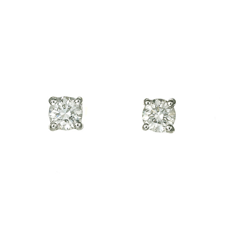 18ct white gold 40 point diamond stud earrings - Product number 5972612