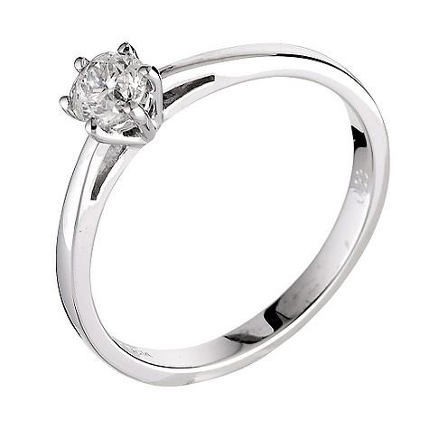 18ct white gold third carat diamond solitaire ring