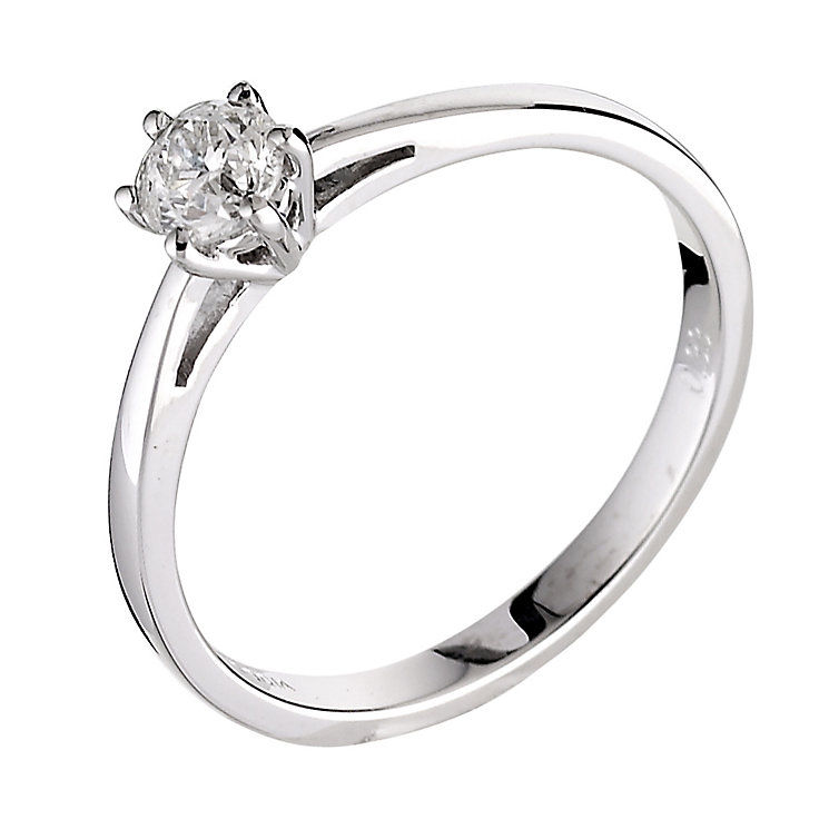 18ct white gold third carat diamond solitaire ring - Product number 5974526