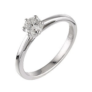 18ct white gold 40 point diamond solitaire ring - Product number 5974658
