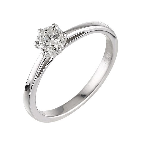 18ct white gold 40 point diamond solitaire ring