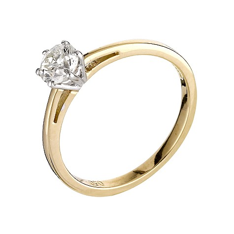 18ct gold half carat diamond solitaire ring