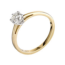 18ct gold 0.50ct diamond solitaire ring - Product number 5974771