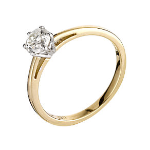 18ct gold half carat diamond solitaire ring - Product number 5974771
