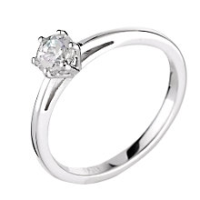 18ct white gold 0.50ct diamond solitaire ring - Product number 5974917