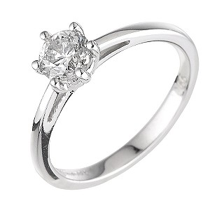 18ct white gold two third carat diamond solitaire ring - Product number 5975182