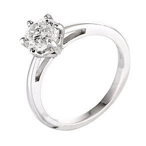 18ct white gold one carat diamond solitaire ring - Product number 5975441