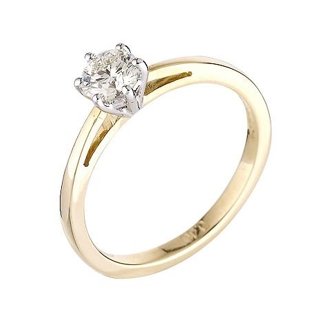 18ct gold 40 point diamond ring