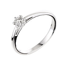 18ct white gold quarter carat diamond ring - Product number 5976308