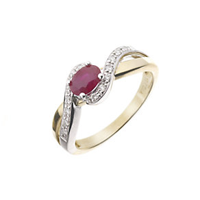 18ct gold ruby and diamond ring - Product number 5978203