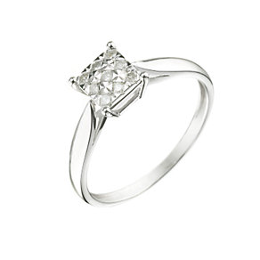 9ct White Gold 1/5ct Diamond Ring - Product number 5982200