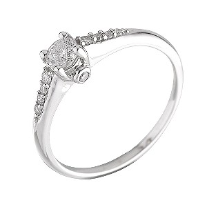 18ct White Gold Third Carat Solitaire Ring