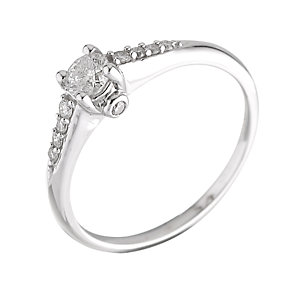 18ct White Gold Third Carat Solitaire Ring - Product number 5982723