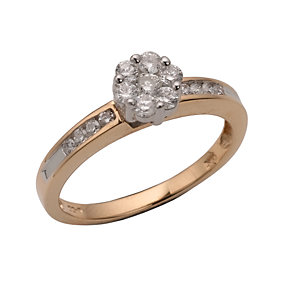 18ct Two-colour Gold 1/2 Carat Diamond Ring - Product number 5983134