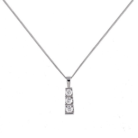 Platinum half carat diamond pendant necklace