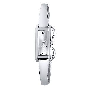 Gucci G Line ladies' stainless steel half bangle watch - Product number 5997402