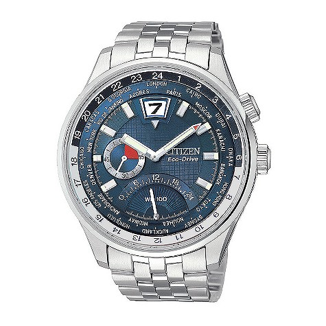 Citizen Eco-Drive 180 men's stainless steel world time watch