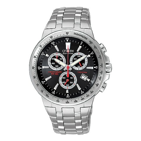 Citizen Eco-Drive 180 men's titanium chronograph watch