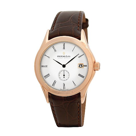 Dreyfuss & Co. men's brown strap watch