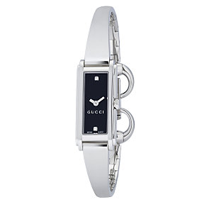 Gucci G Line ladies' stainless steel half bangle watch - Product number 6004334