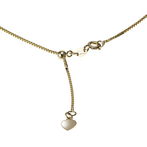 "9ct yellow gold 20"" adjustable box chain - Product number 6004644"