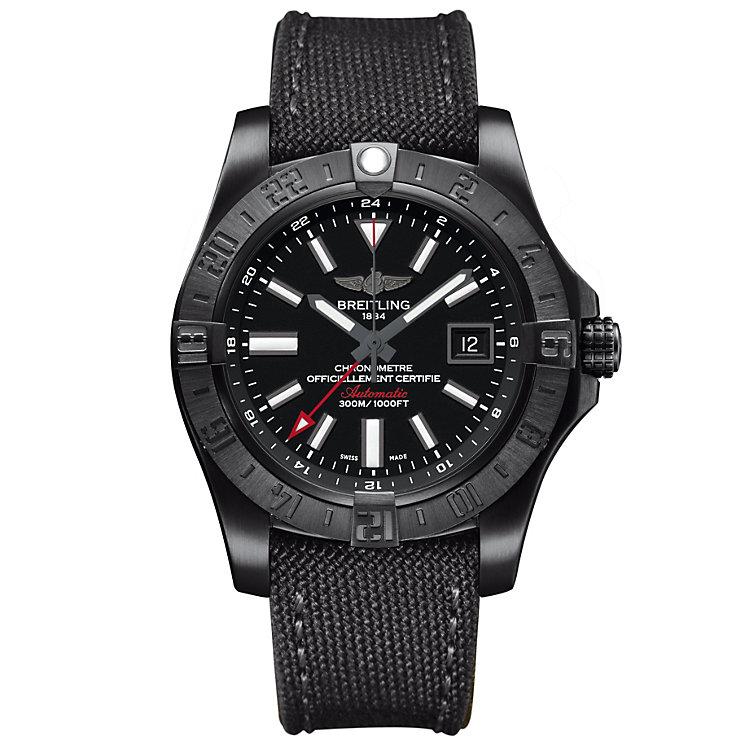 Breitling Avenger II GMT Men's Stainless Steel Strap Watch