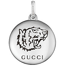 Gucci Sterling Silver Tiger Disc Charm - Product number 6008585