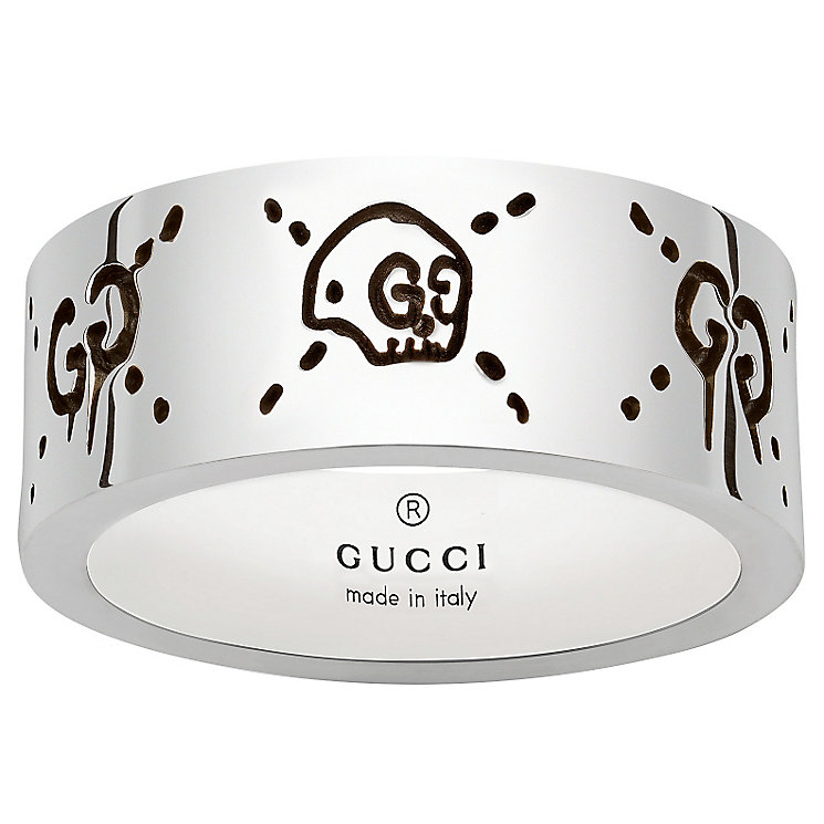 Gucci Ghost Ladies' Sterling Silver 9mm Ring - Product number 6008674