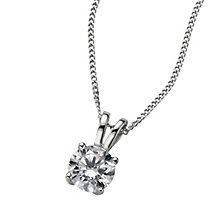 Platinum 0.66ct G/H SI1 diamond pendant - Product number 6008704