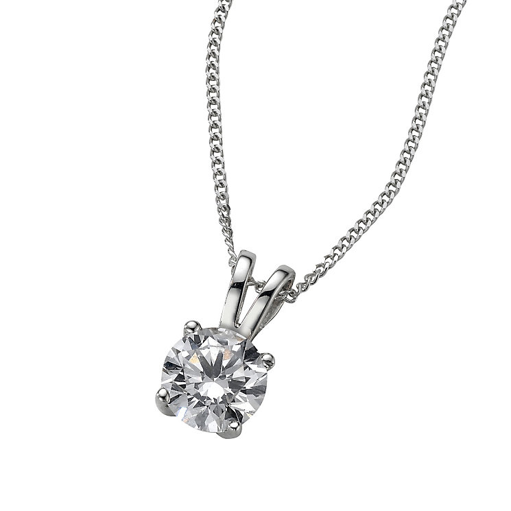 Platinum 0.66ct F/G VS2 diamond pendant - Product number 6008712
