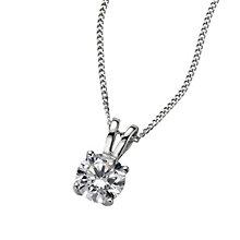 Platinum 0.66ct F/G VS2 diamond pendant - Product number 6008712