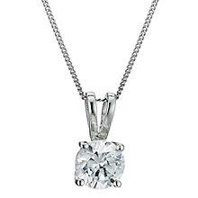 Platinum 0.75ct G/H SI1 diamond pendant - Product number 6008720