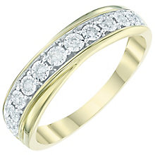9ct Gold 0.10 Carat Diamond Set Eternity Ring - Product number 6009050