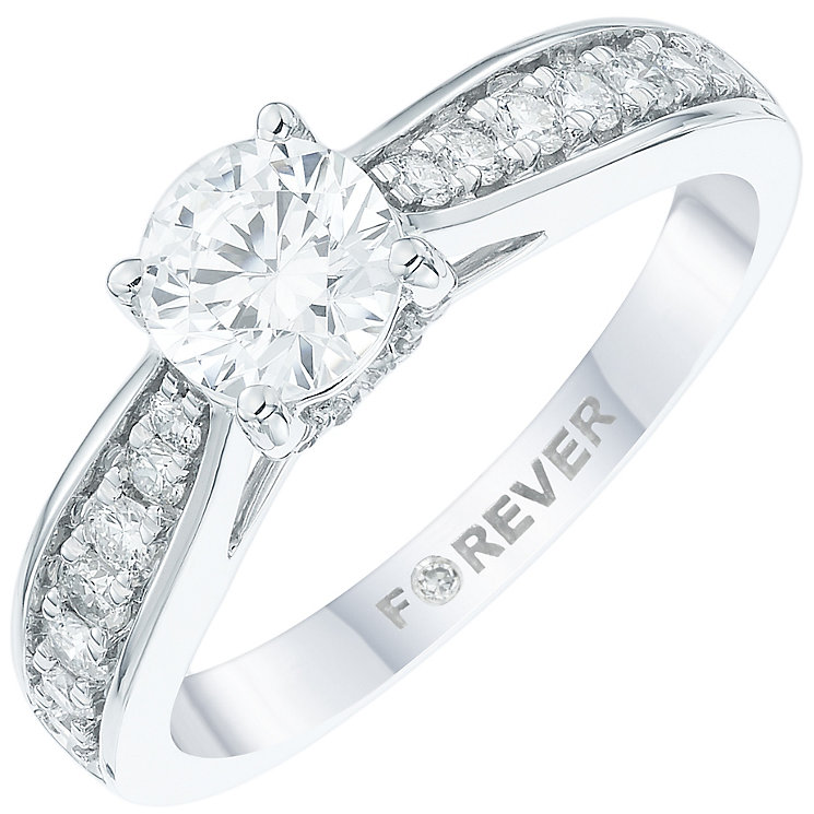 18ct White Gold 1 Carat Forever Diamond Ring - Product number 6010016