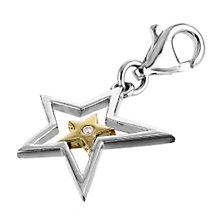 Hot Diamonds Superstar Silver and Gold-plated Charm - Product number 6010962