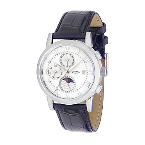 Rotary men's stainless steel automatic moonphase watch - Product number 6020089