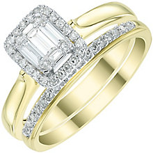Perfect Fit 9ct Gold 1/3ct Diamond Bridal Set - Product number 6020399