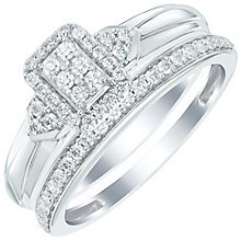 Perfect Fit Certified 18ct White Gold 1/3 Diamond Bridal Set - Product number 6020666