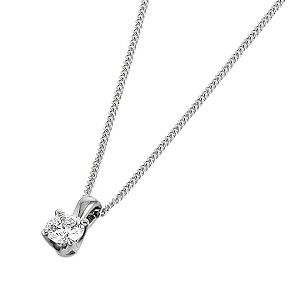 Leo Diamond 18ct white gold 15 point diamond pendant - Product number 6021034