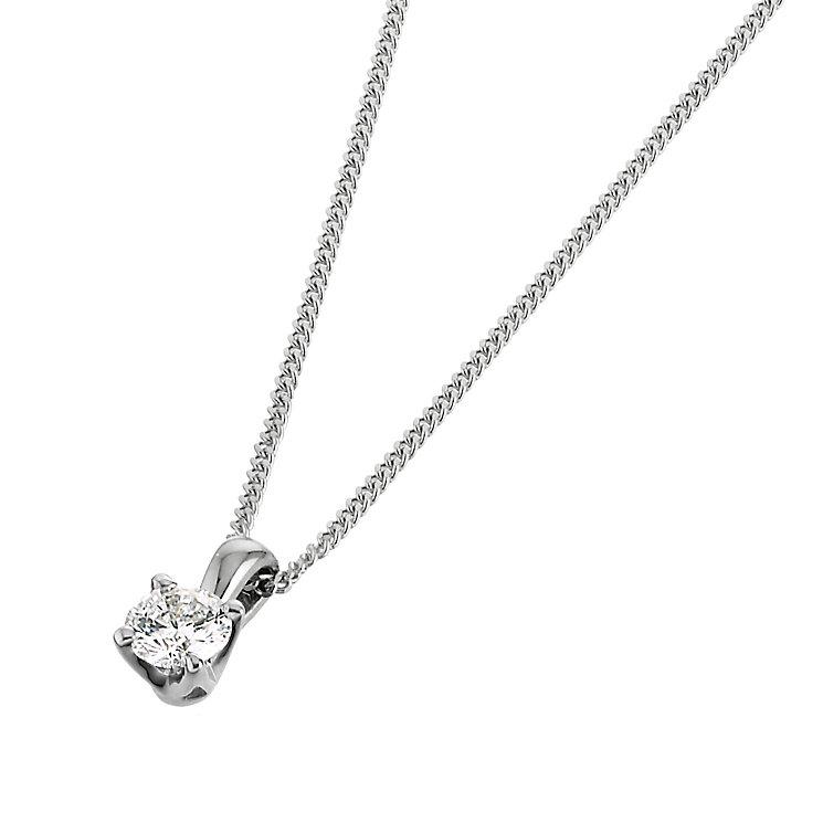 Leo Diamond 18ct white gold 15 point diamond pendant - Product number 6021034