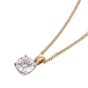 Daily jewels 18ct gold half carat leo diamond pendant chain style curb cut 66 facet cut diamond clarity si2 diamond colour i material 18ct gold necklace style pendant stone setting claw aloadofball Images