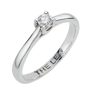 Leo Diamond platinum 0.15pt I-ISI2 diamond solitaire ring - Product number 6021255