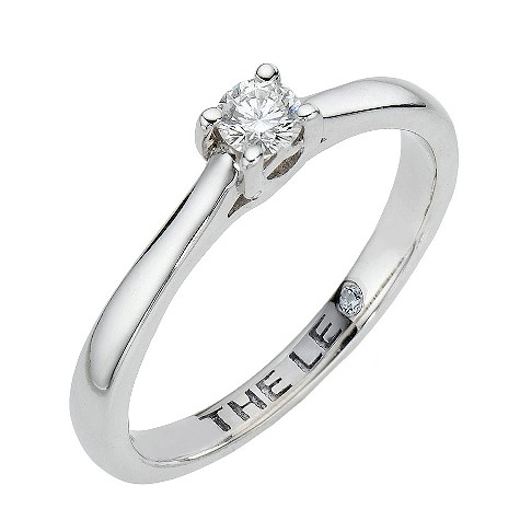 Leo Platinum 15pt certified diamond solitaire ring